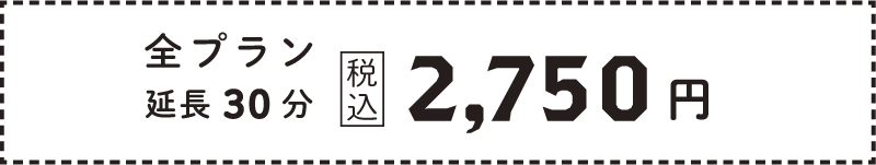 全プラン延長30分:2,750円(税込)